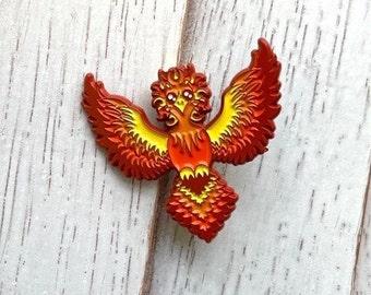 "Phoenix Soft Enamel Pin 1.5"""
