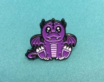 """Purple Dragon Soft Enamel Pin 1"""""""