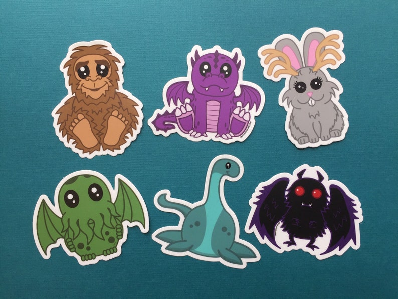 Cryptid 6 Sticker Pack 3 image 0
