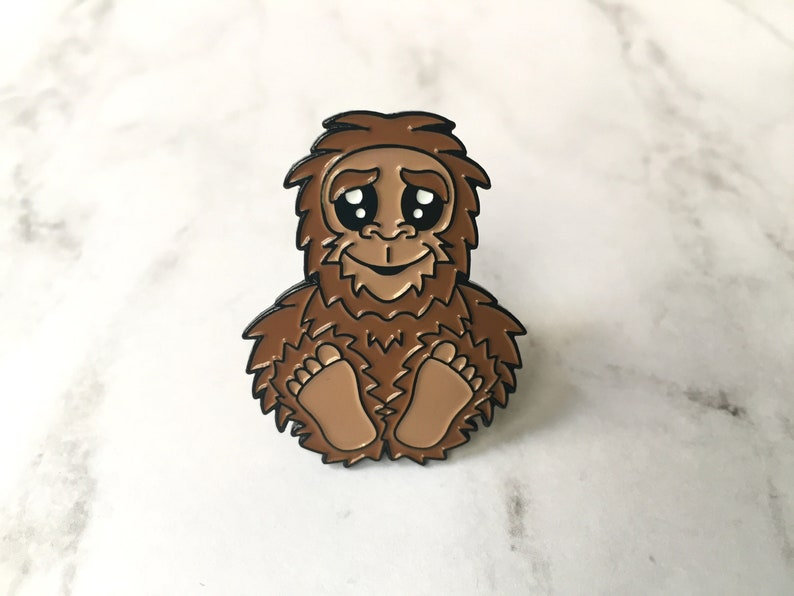 Bigfoot Sasquatch Soft Enamel Pin 1.5 image 0