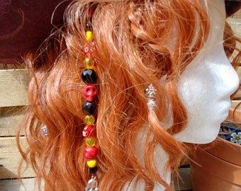 Red and Black Pirate Hairclip
