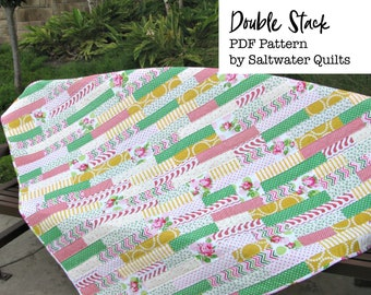 Quilt instructions etsy double stack quilt pattern pdf quilt pattern instant download quilt pattern for jelly roll quilt pattern for beginners pdf instructions fandeluxe Image collections