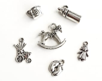 Free Ship 50Pcs Tibetan Silver Umbrella Charms Pendant For Bracelet 22x16mm