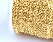 Gold Plated Cable Chain, Soldered, 2 mm x 1.5 mm links - 15 feet (G215-001)