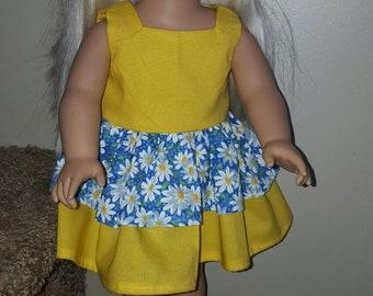 Doll clothes, doll dress, 18 inch doll dress, fits dolls like American girl