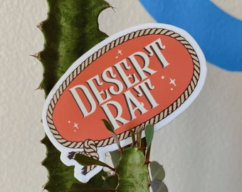 desert rat sticker - western cowgirl yeehaw style