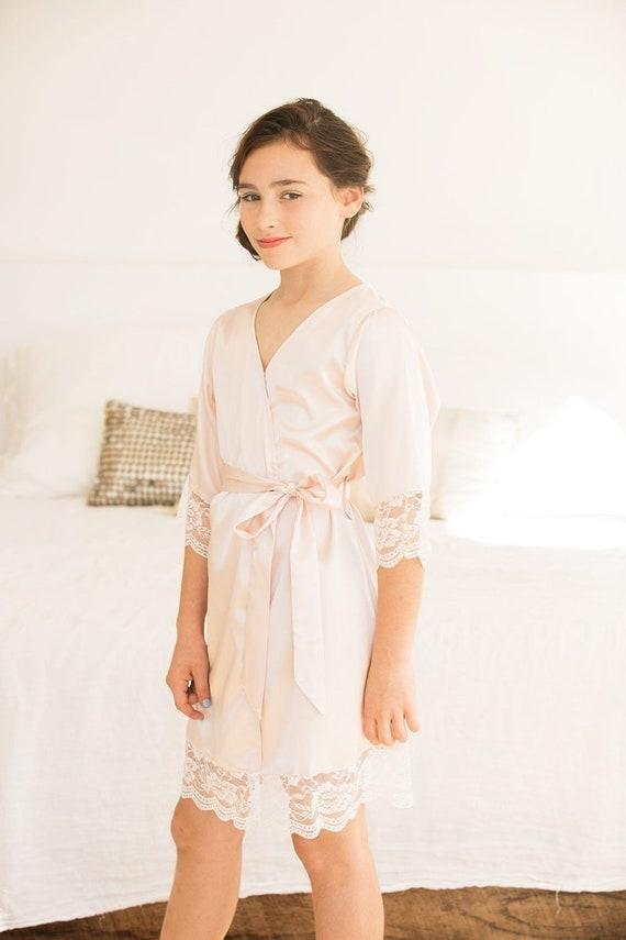 Bella Flower Girl Robe    Satin Robe    Girl Robe    Petite  eb75cf435