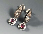 Rhodonite garnet earrings...
