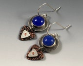 Blue Chalcedony earrings,...