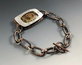 Ammonite bracelet, Mens b...
