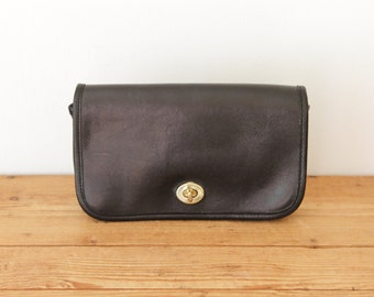 16f49fb620b2 Rare COACH Black 1970s Penny Clutch   NYC Pre-Creed Coach Small Handbag    Mini Vintage Coach Purse 072218-30