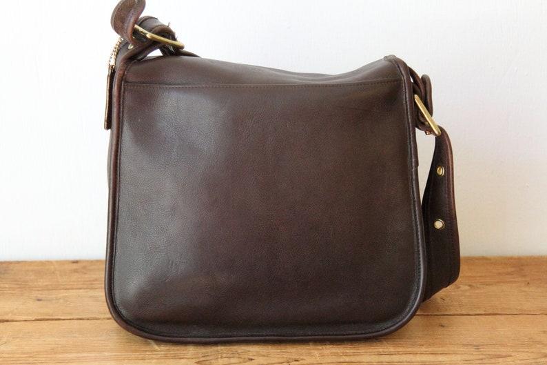 317e16e693 COACH NYC Brown Stewardess Bag / Vintage Coach Large Mahogany | Etsy