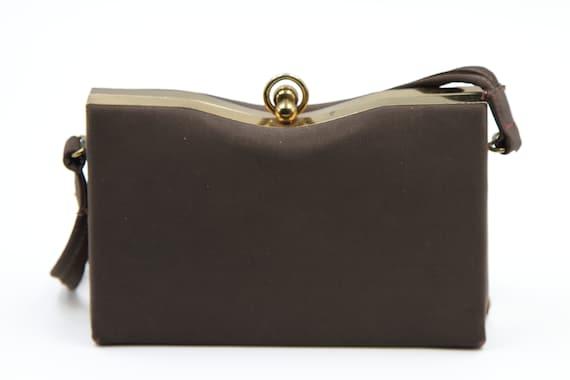 1940s Faille Silk Box Purse - image 6