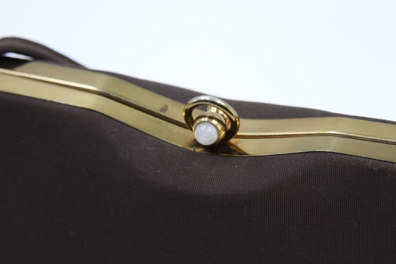 1940s Faille Silk Box Purse - image 4