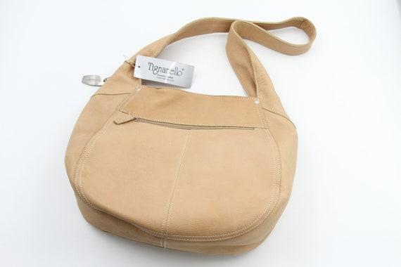 Tignanello Leather Hobo Handbag NWT