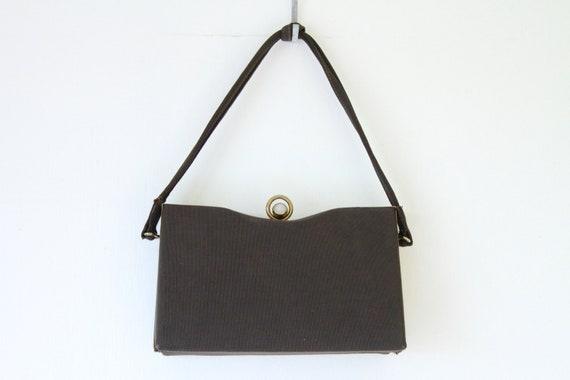1940s Faille Silk Box Purse - image 10