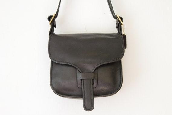 COACH NYC Black Courier Bag   Coach Saddle Flap Shoulder Bag    1acacf9ceaeba
