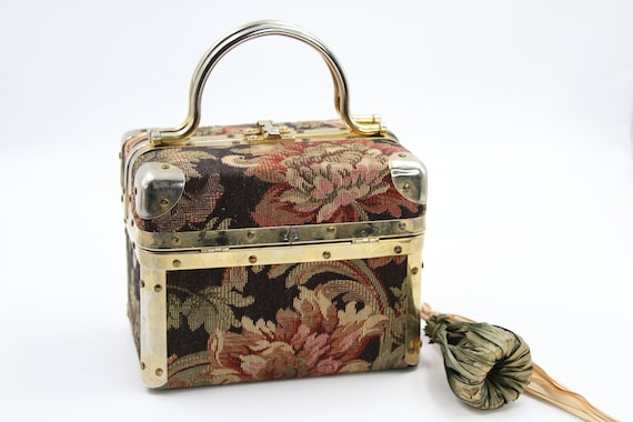 LISETTE Tapestry Brocade Box Purse