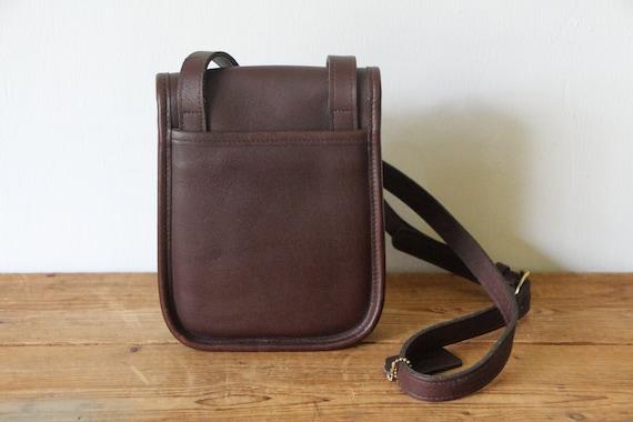 28405043ad418 COACH Brown Sidepack 9978 / Coach Crossbody Bag / Dark Brown Small Leather  Handbag 033019-35