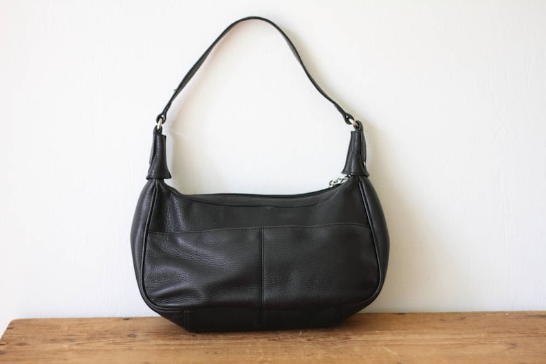 a5ab54f62c84a Vintage ETIENNE AIGNER Hobo Handbag / Black Pebble Leather Shoulder Bag /  Etienne Aigner Purse 040917