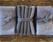 Hand Dyed Wool Bundle in PEWTER GREY for Rug Hooking, Wool Applique and Rug Braiding