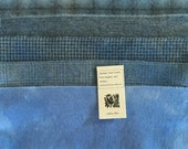 Alpine Blue Hand Dyed Wool Bundle for Rug Hooking, Wool Applique and Rug Braiding