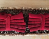 Hand Dyed Wool Bundle in TURKEY RED for Rug Hooking, Rug Braiding, Wool Quilts and Wool Applique