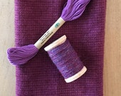 Hand Dyed Fat Eighth in Grape with Coordinating Threads
