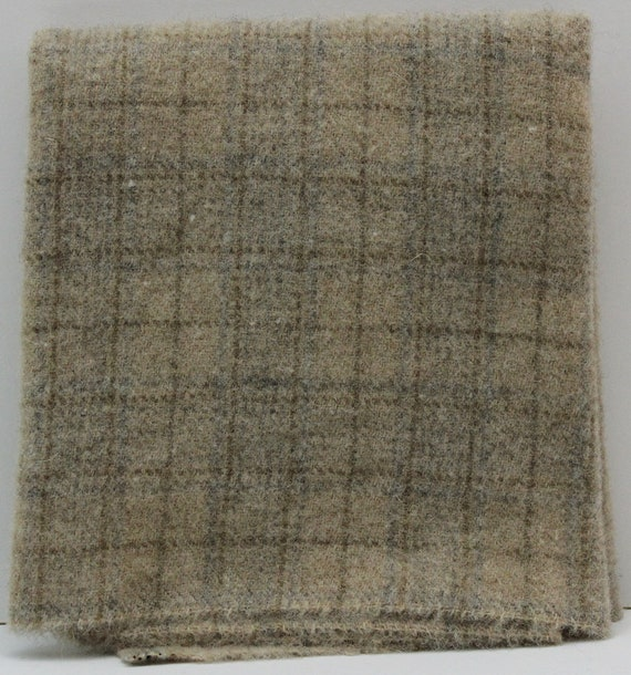 Cream Of Wheat: Fat Quarter Yard Felted Wool Fabric For
