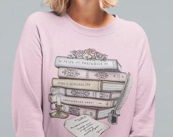 Jane Austen Book Collection   Letter From Jane   Unisex Crewneck Sweatshirt
