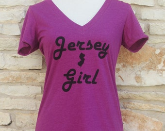 Jersey Girl  Women's Screenprinted Shirt