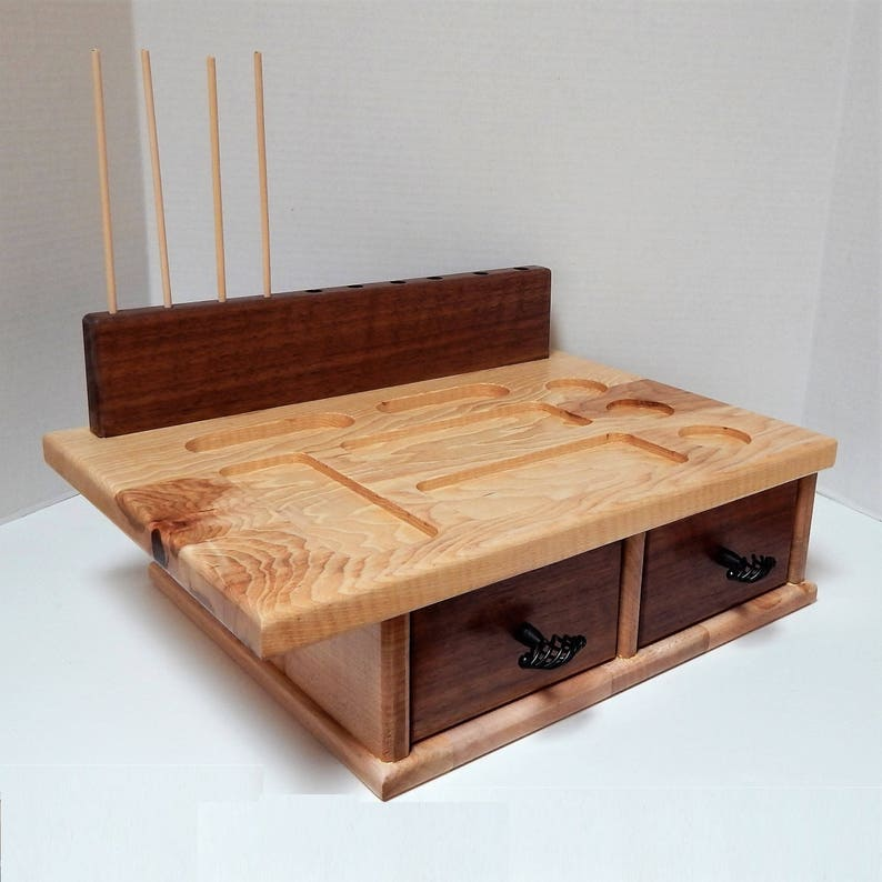 fly tying board fly tying table fly tying station with two etsy rh etsy com fly tying table for sale fly tying table diy