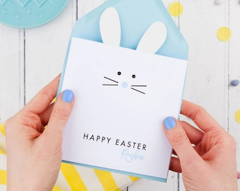 Easter Bunny Personalised Card / First Easter Card / Cute Easter Card for Baby / EASTER / JG ARTWORK