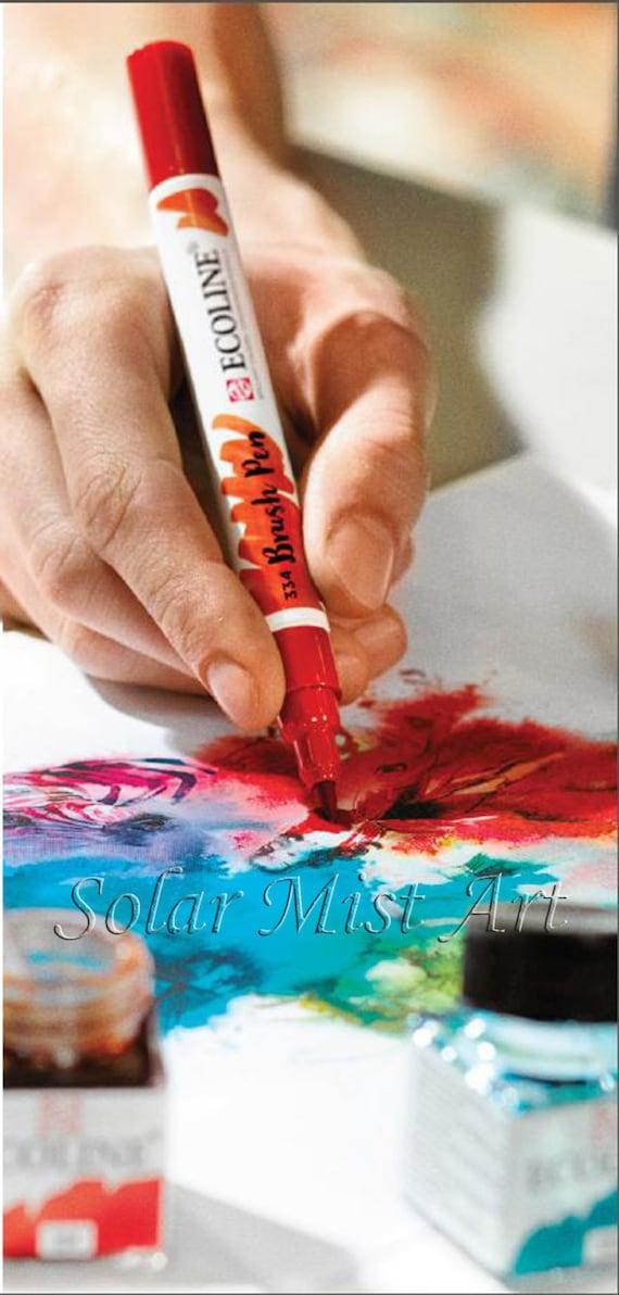 Talens Ecoline Pinsel Stift flüssigen Aquarell Tinte Farbe Set | Etsy