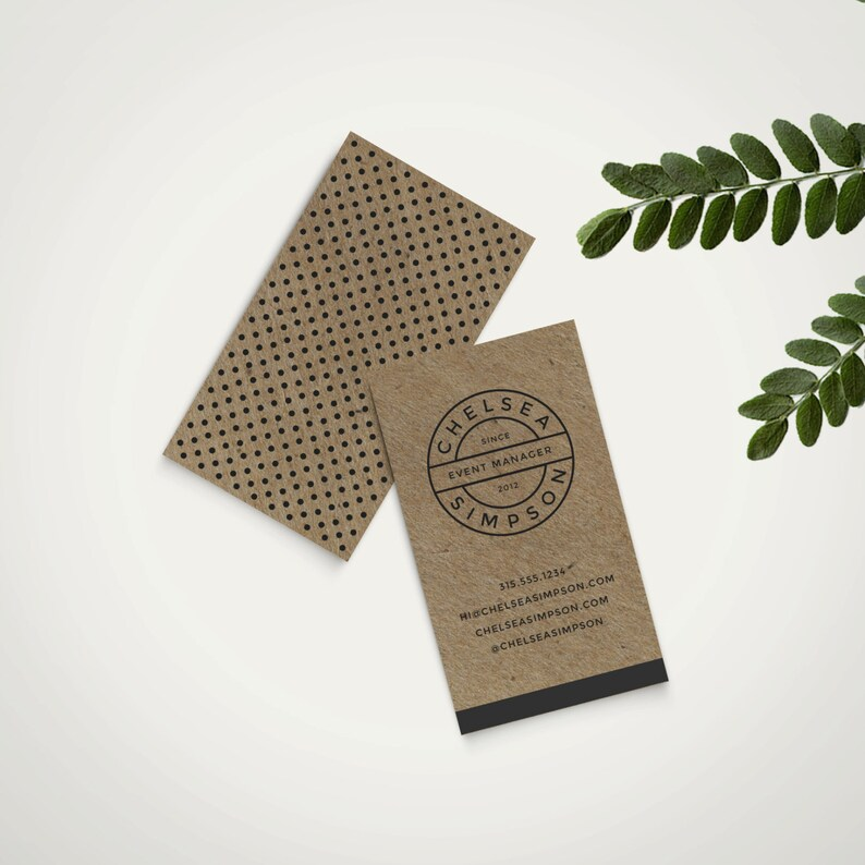 diy premade business card template custom branding instant