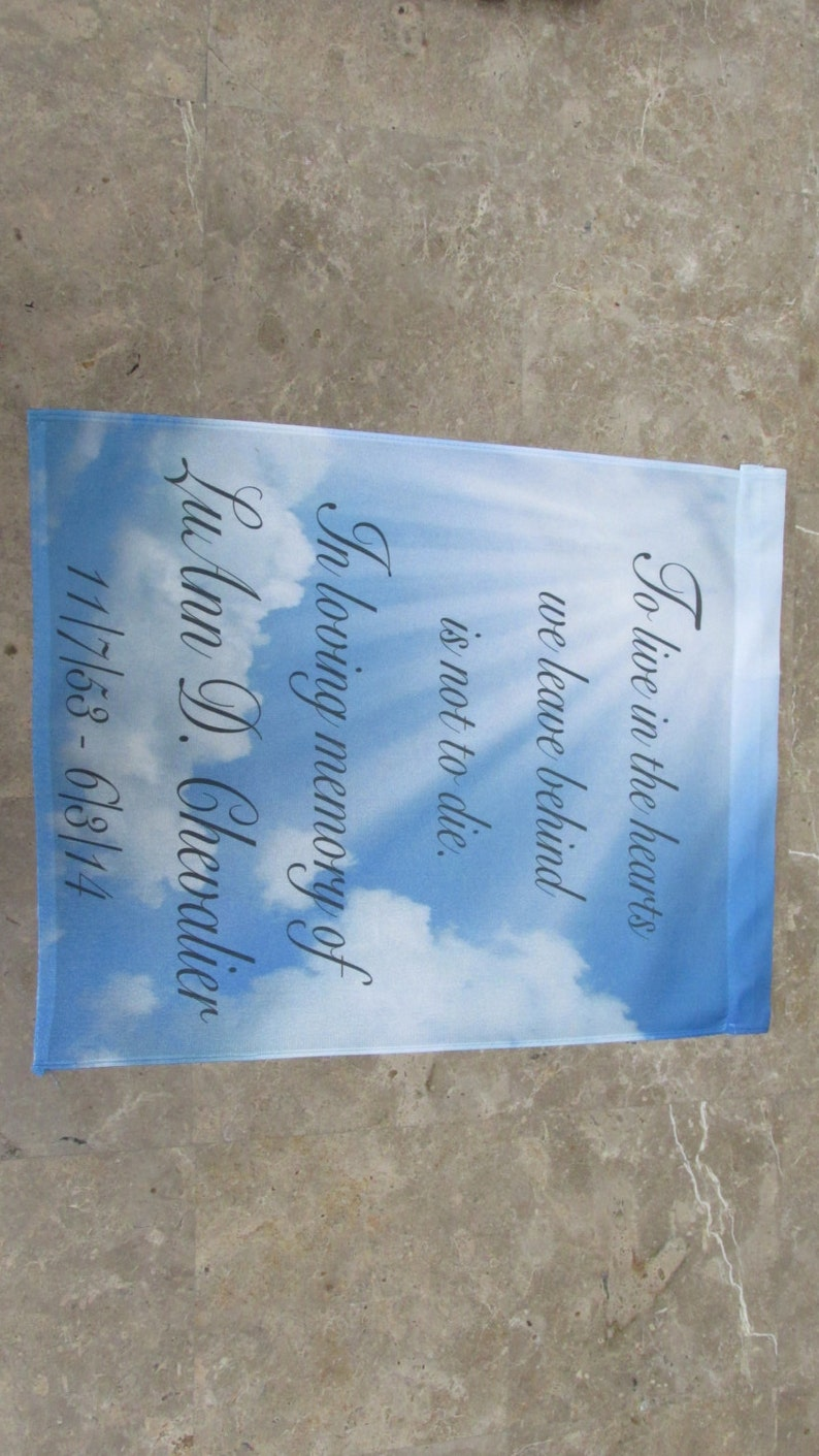 Memorial Garden Flag. We can add a photo. Beautiful way to image 0