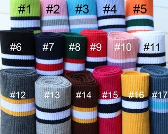 42ca716ddce Elastic Rib Knit Cuff Waistband Fabric Trim Sold by 80cm SH312
