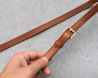 Light Brown Genuine Leather Purse Strap Crossbody Strap for Handbag 2c401c492b2cb