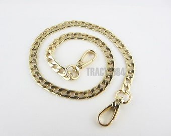 Gold Color Chain Bag Purse Chain, 0.9cm or 0.35 inch wide