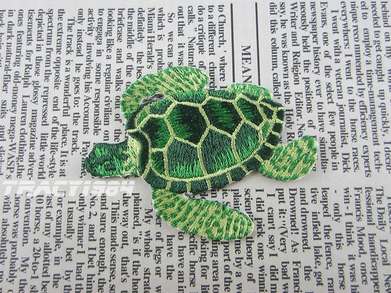 Fabric turtle embroidered applique iron on patch etsy