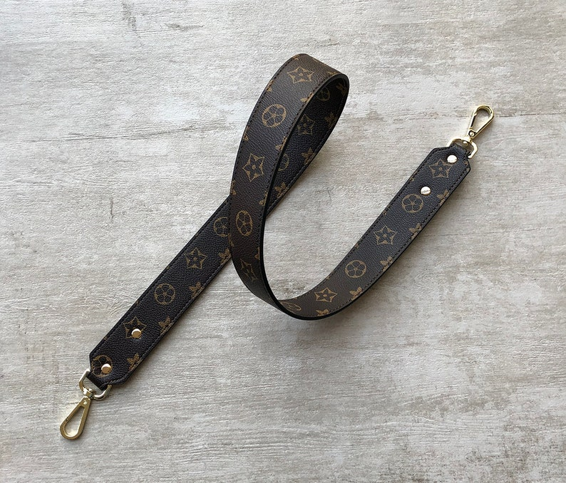 Dark Brown Synthetic Leather Handbag Strap 40 inch long