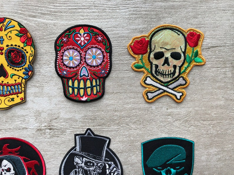 Pirates Patch Skull Applique Iron On Patches