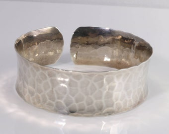Sterling Silver Hammered Cuff