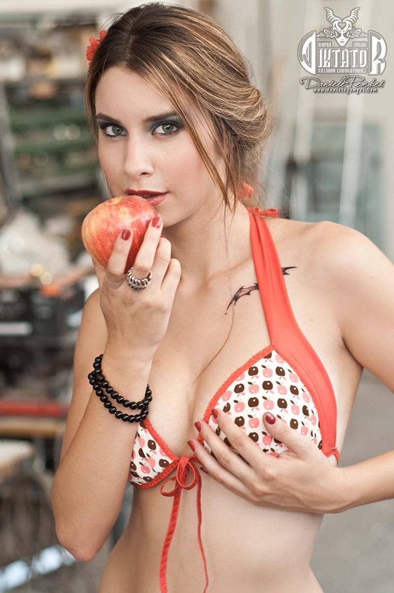 Péché originel Bikini Pin Up maillot de bain pomme impression  c793e4bf516