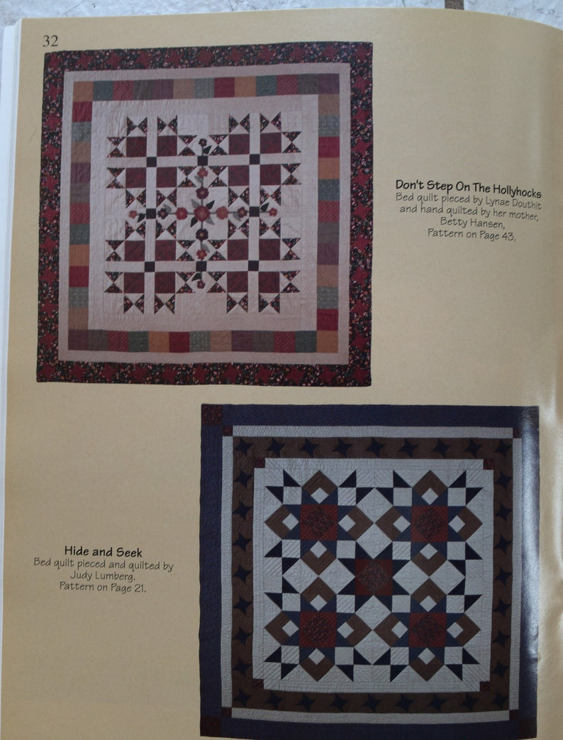 Destash Book Sewing Patterns Four Blocks Say More Quilted Wall Hanging Pattern Quiltsy Destash Quilt Patterns