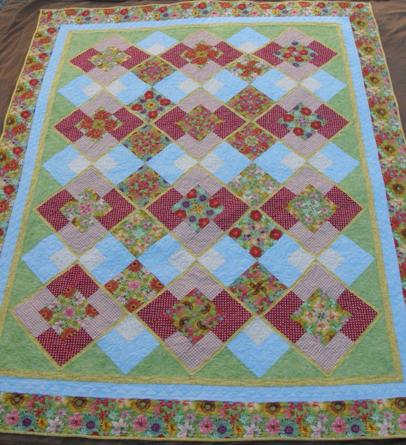 Raggy Lap Quilt Wheelchair Quilt Table Topper