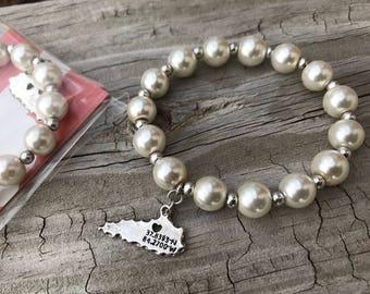 Pearl Kentucky Bracelet / Kentucky Bracelet / Pearl Bracelet / Kentucky Jewelry
