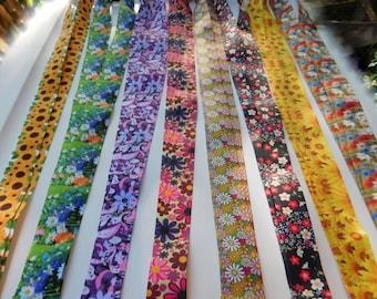 Sunflowers  printed grosgrain ribbon 22mm wide 2.95 metres left in stock