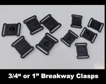 Black+White EXCEART 60 Pcs Break Away Safety Clasps Plastic Bracelet Clasps Safety Clasp Buckle for DIY Necklaces Bracelets Jewelry Ribbon Lanyards Craft Making