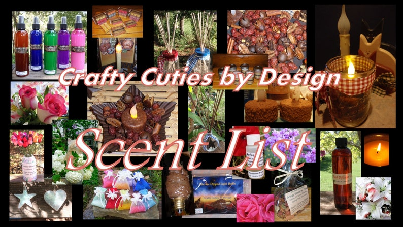 Master Scent List for Home Fragrances, Candles, Tarts, Air Fresheners, Reed  Oils, Linen Spray, Aroma Beads, Refresher Oil - VIEW ONLY